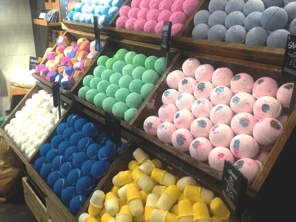 Lush Oxford Street bath bombs
