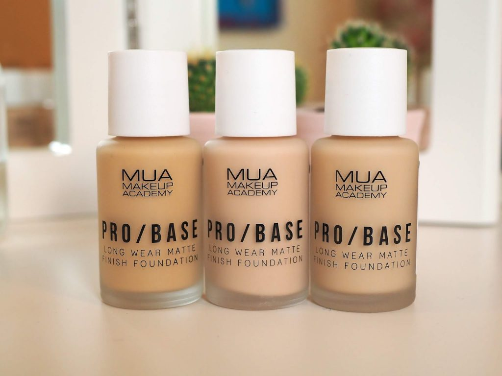 A review of MUA Academy brand Pro/Base make up