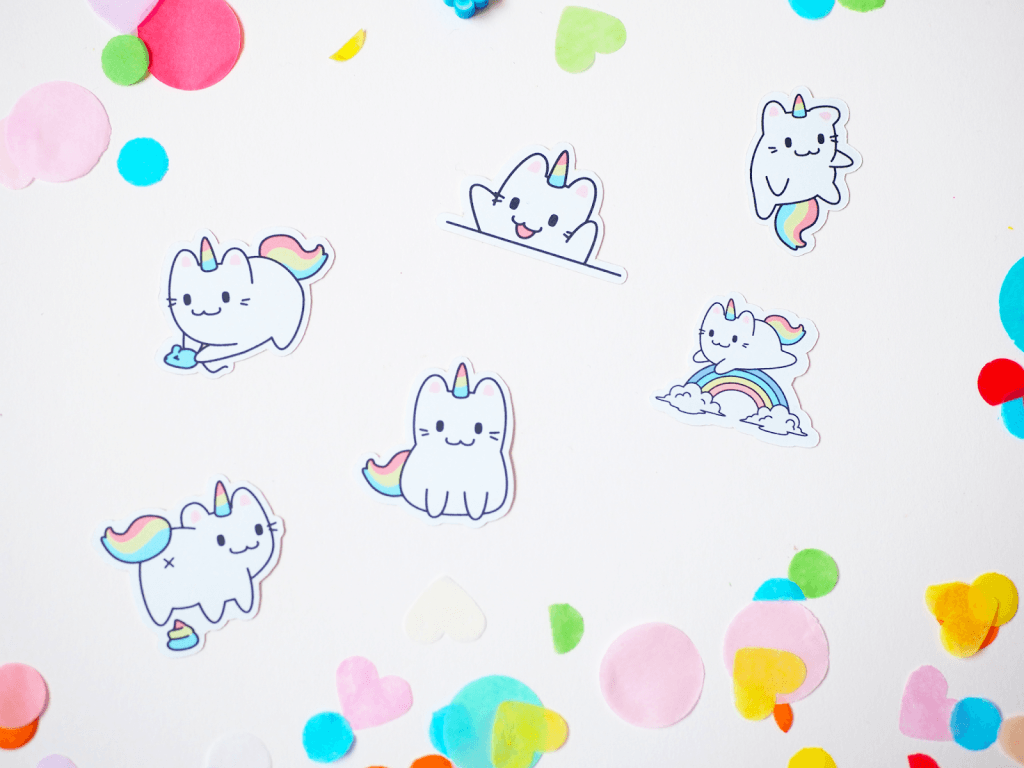 Stickers from Etsy Seller Perfect Paradox